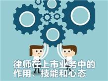 七、律师在上市业务中的作用、技能和心态