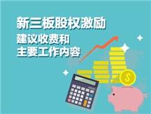 新三板股权激励建议收费和主要工作内容