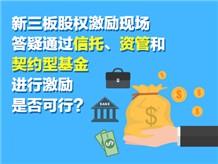 新三板股权激励现场答疑通过信托、资管和契约型基金进行激励是否可行?