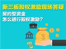 新三板股权激励现场答疑契约型资金怎么进行股权激励?