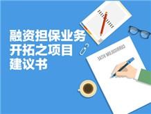 融资担保业务开拓之项目建议书