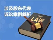 七、涉及股东代表诉讼案例解析