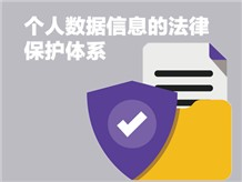 个人数据信息的法律保护体系